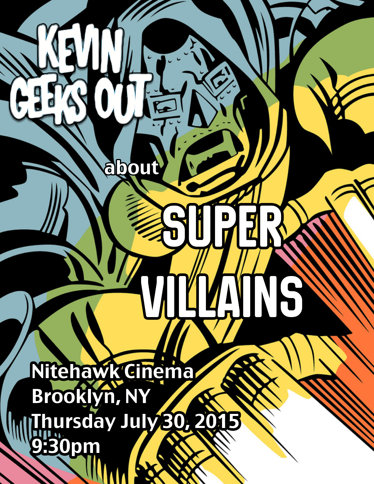 Poster for Kevin Geeks Out About Super Villains