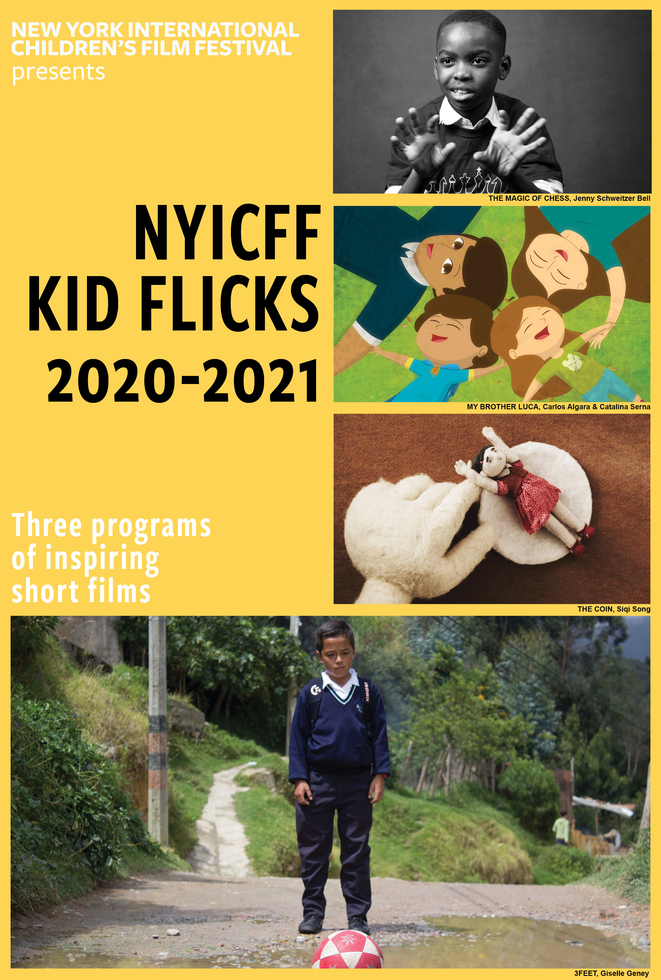 Poster for NYICFF Kid Flicks One, Two and Viva!