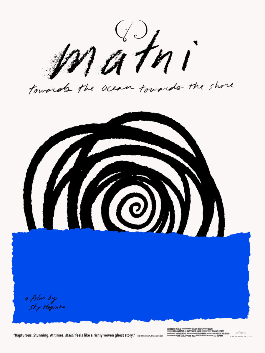 Poster for Malni – Towards the Ocean, Towards the Shore