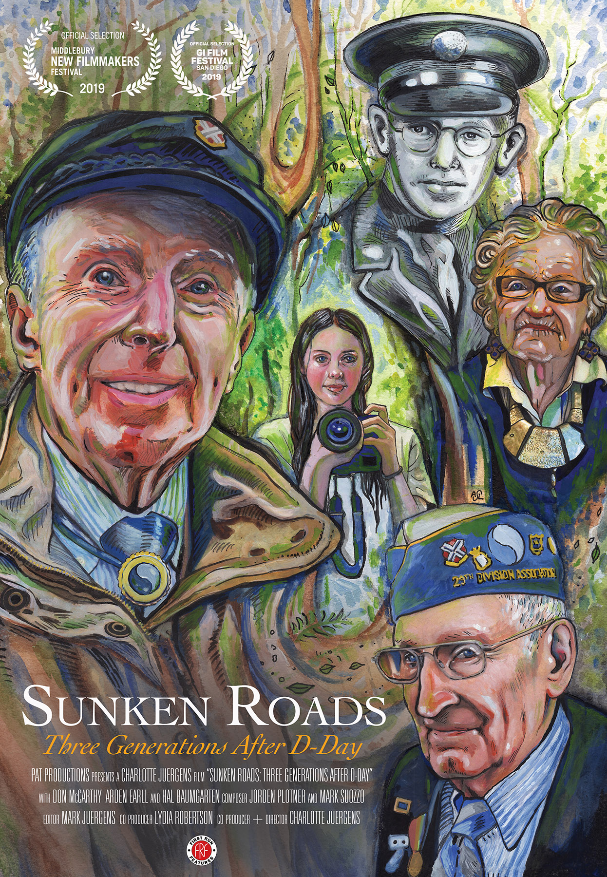 Poster for Sunken Roads: Three Generations After D-Day