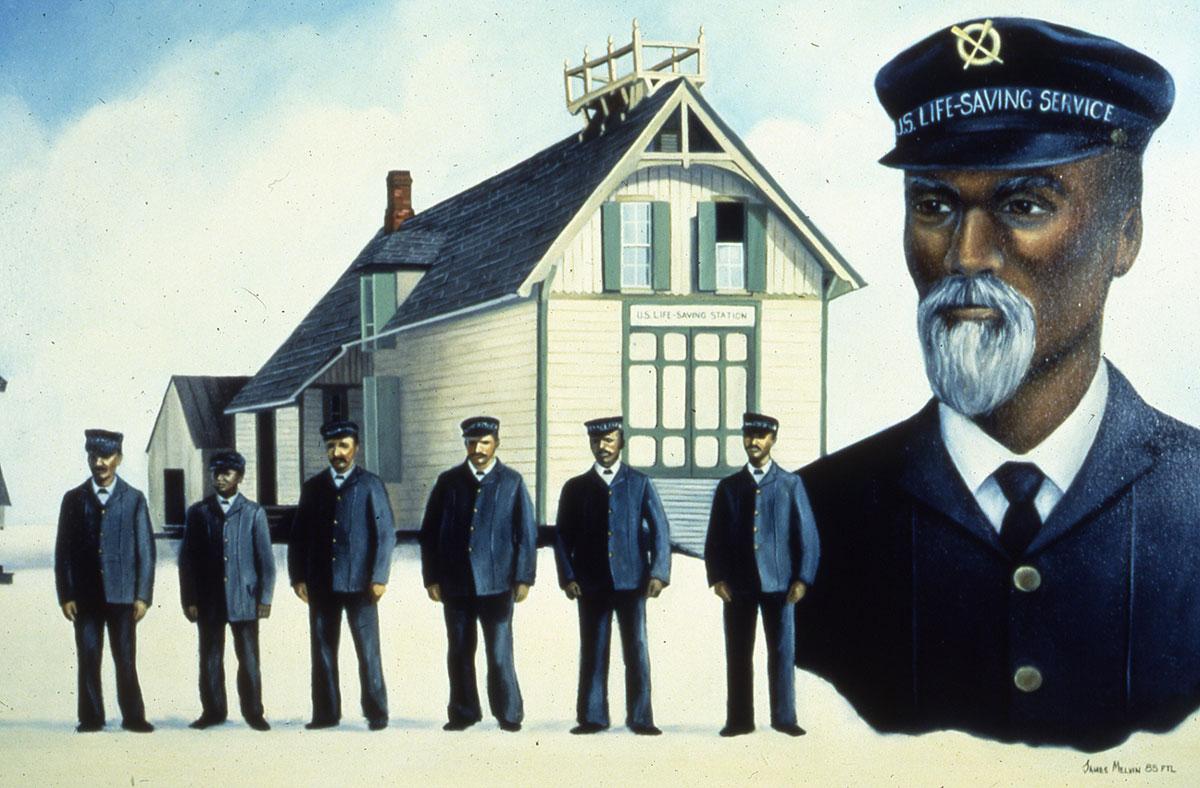 Rescue Men Lifesavers - Painting of Crew