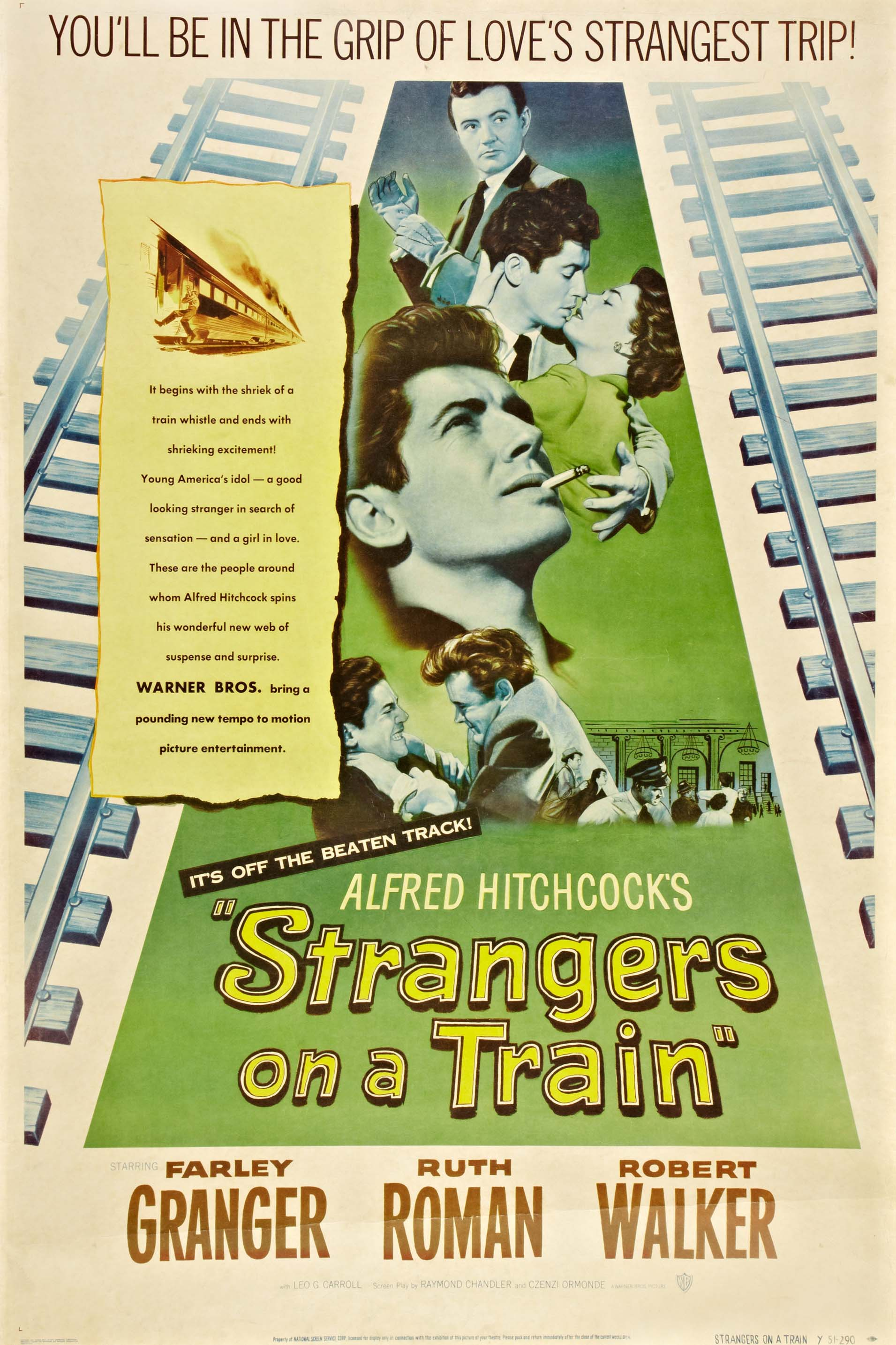 Poster for Strangers on a Train (1951)