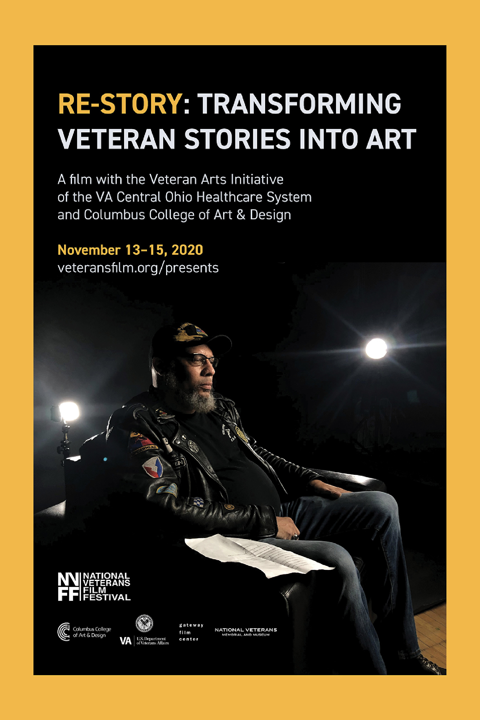 Poster for NVFF Presents: Re-story: Transforming Veteran Stories into Art