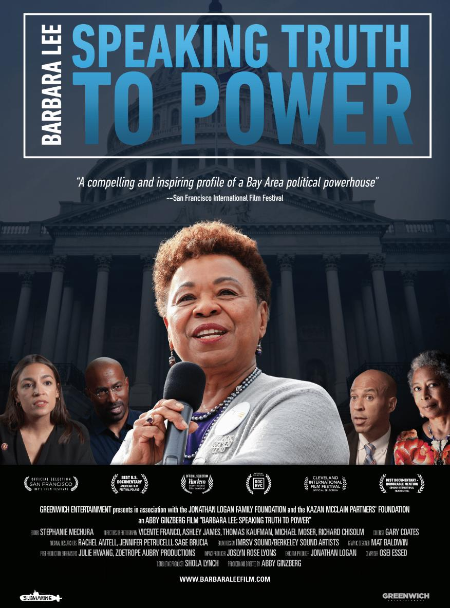 Poster for Barbara Lee: Speaking Truth to Power