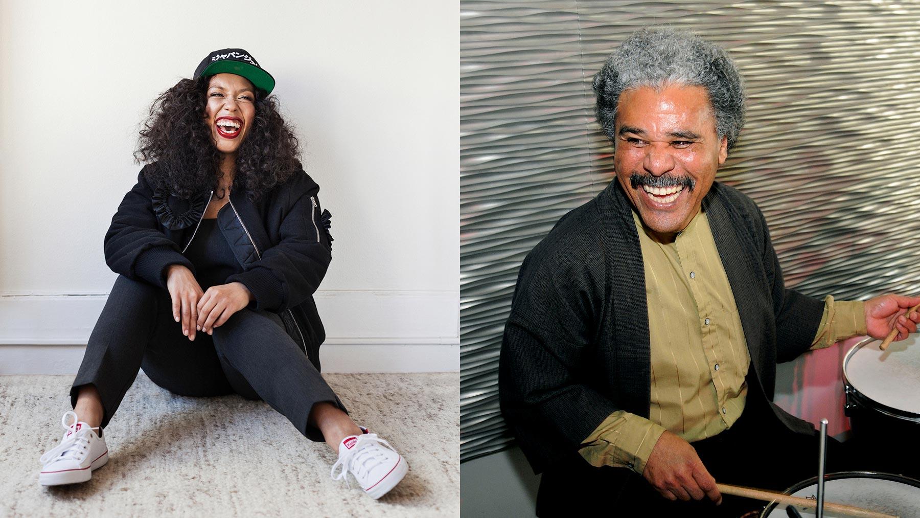 Aisha Fukushima and Anthony Brown