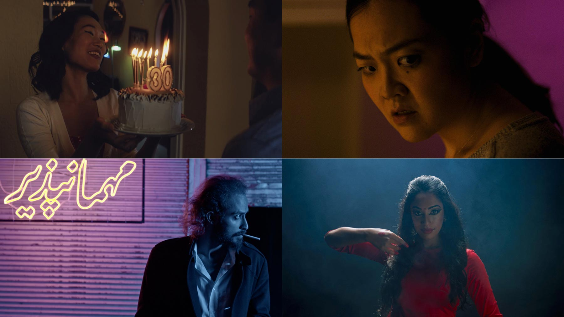 Film Stills from Make a Wish, The Mark, Blue Eyed, and Tina