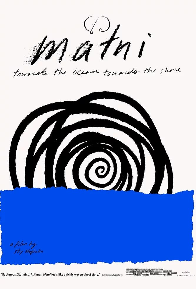 Poster for Małni – Towards The Ocean, Towards The Shore