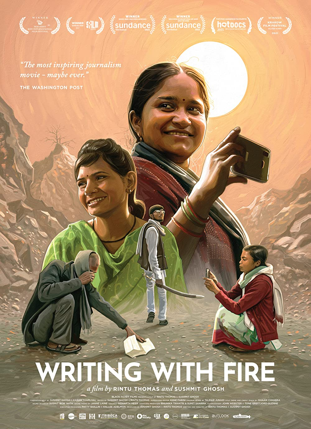 Poster for Writing With Fire