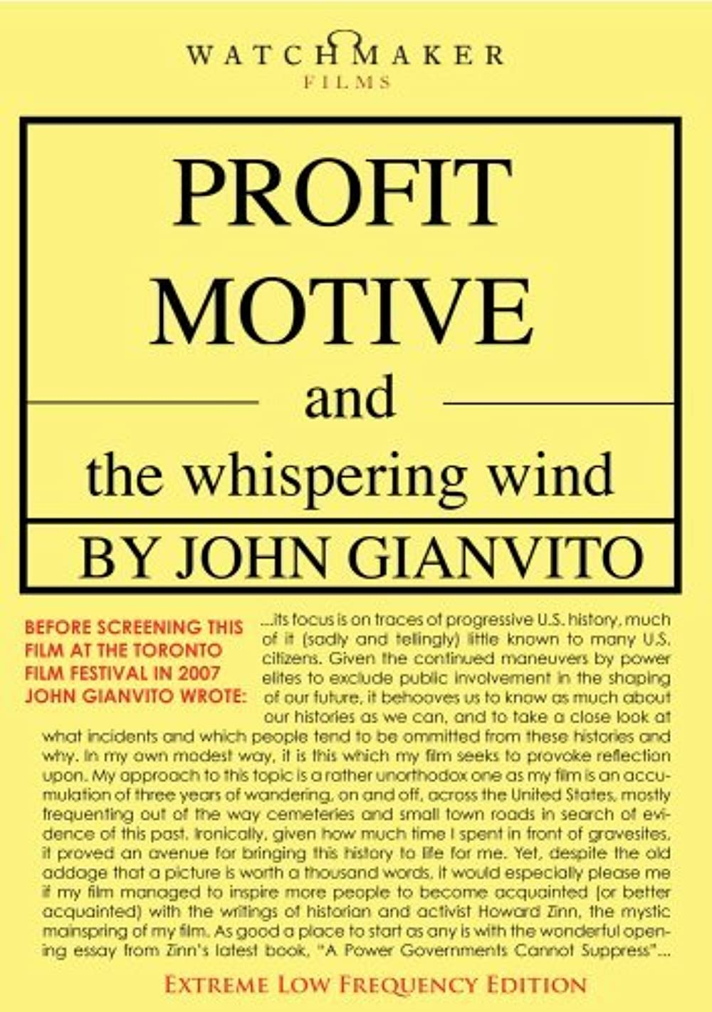 Poster for Profit Motive and the Whispering Wind