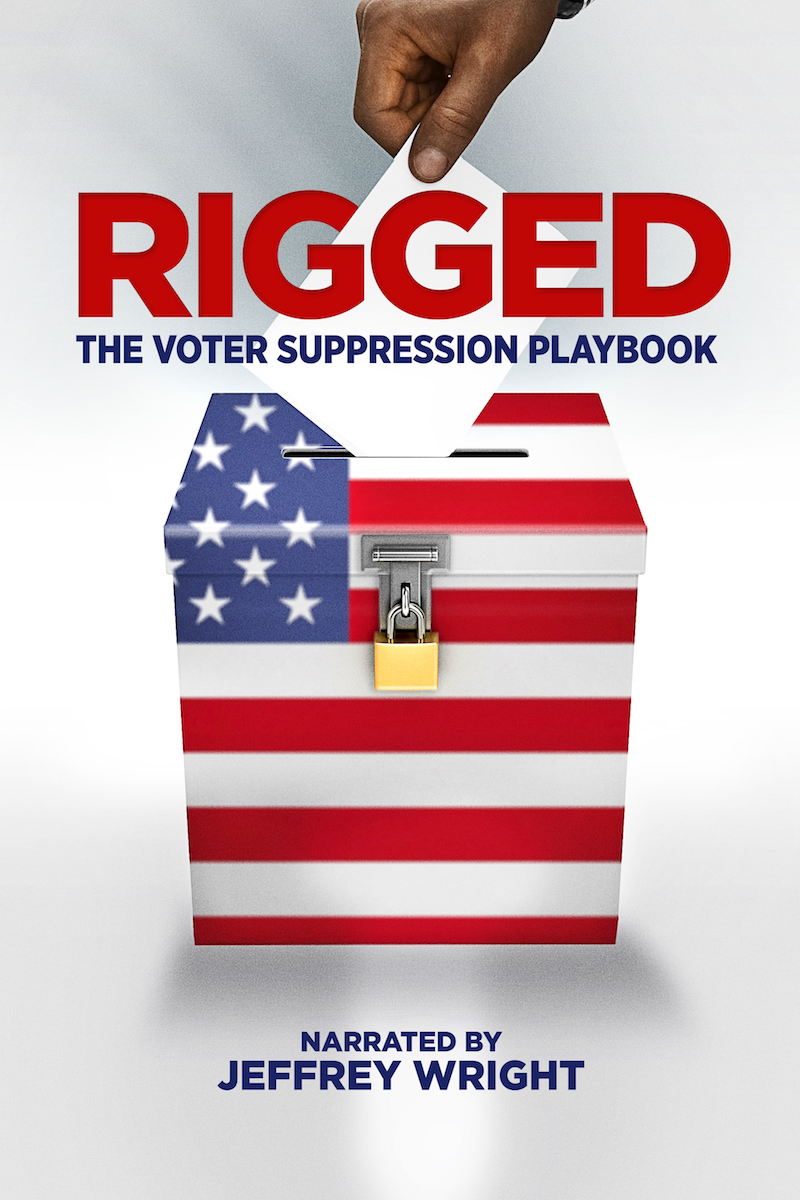 Poster for ACLU-PA Presents, Rigged: The Voter Suppression Playbook