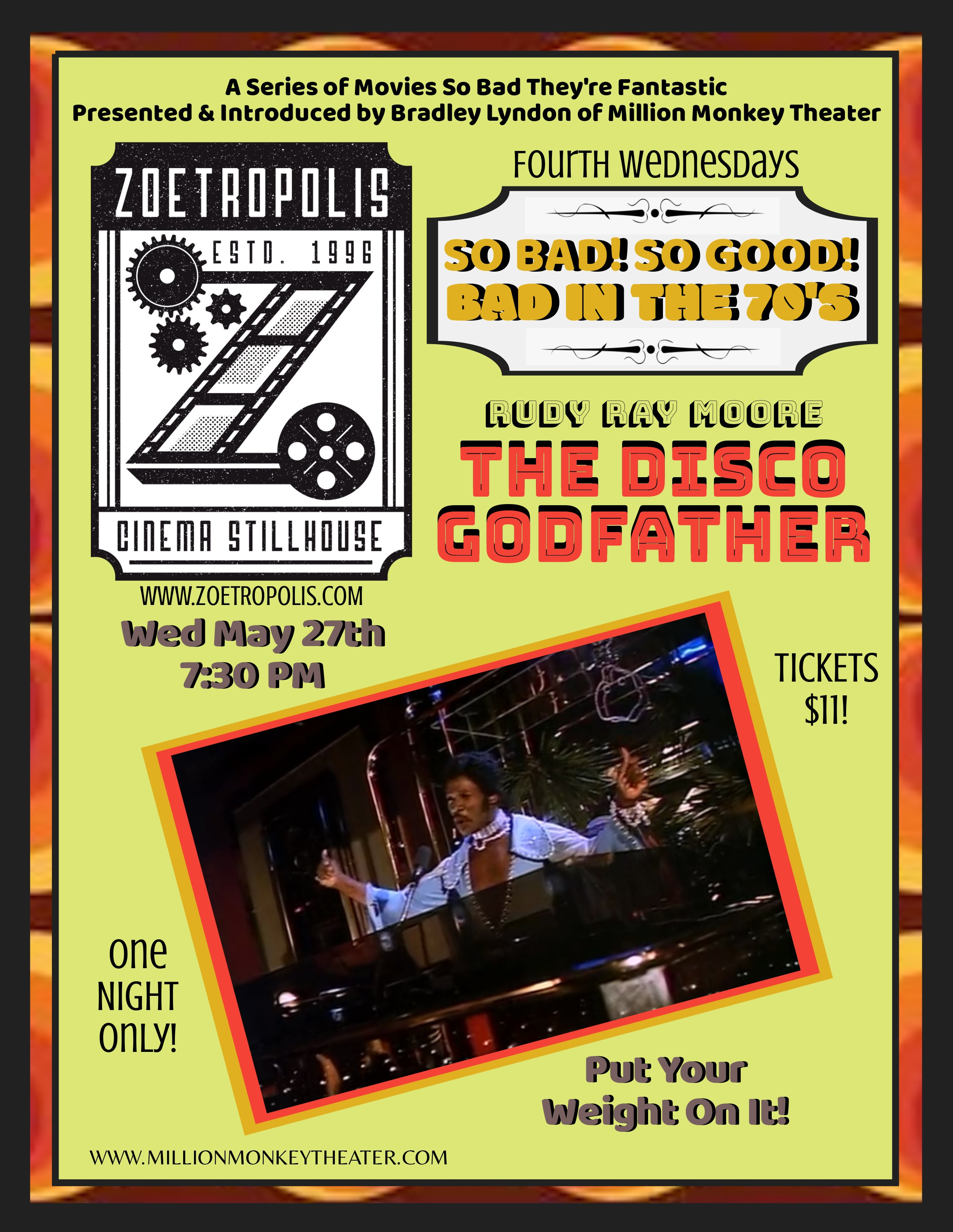 Poster for So Bad, So Good: The Disco Godfather