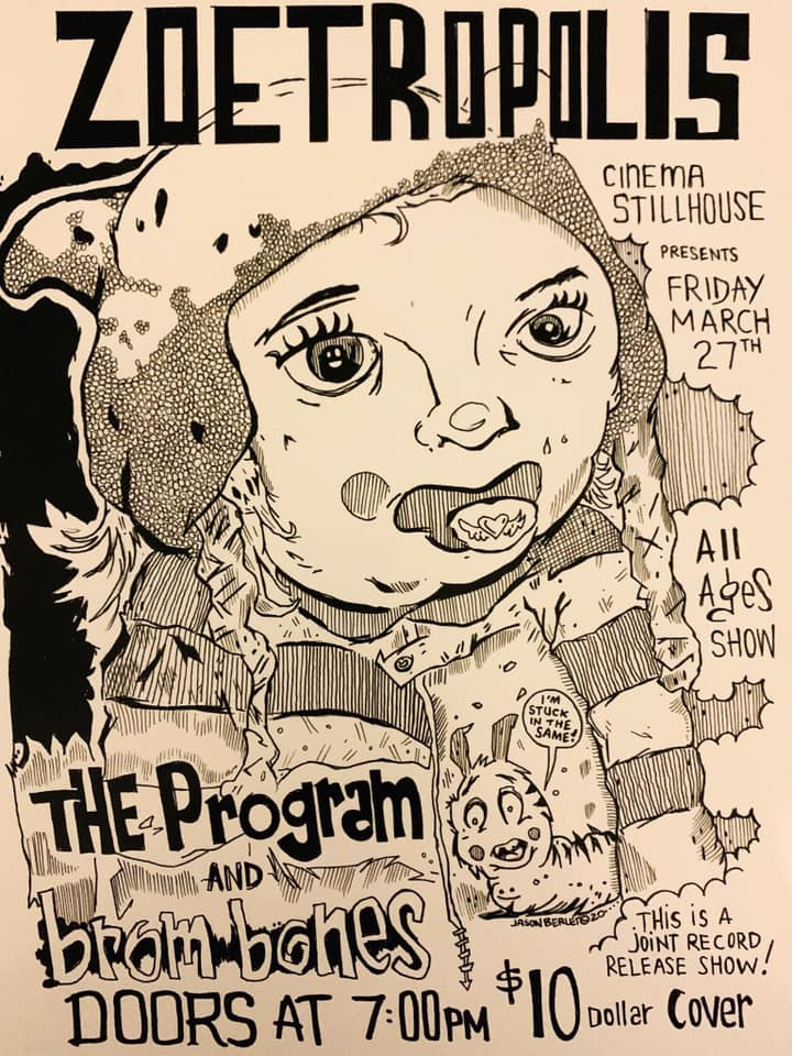 Poster for Live Music: The Program / Brom Bones joint album release show!