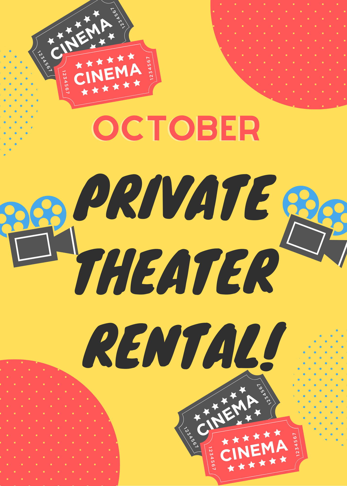 Poster for October Private Theater Rental