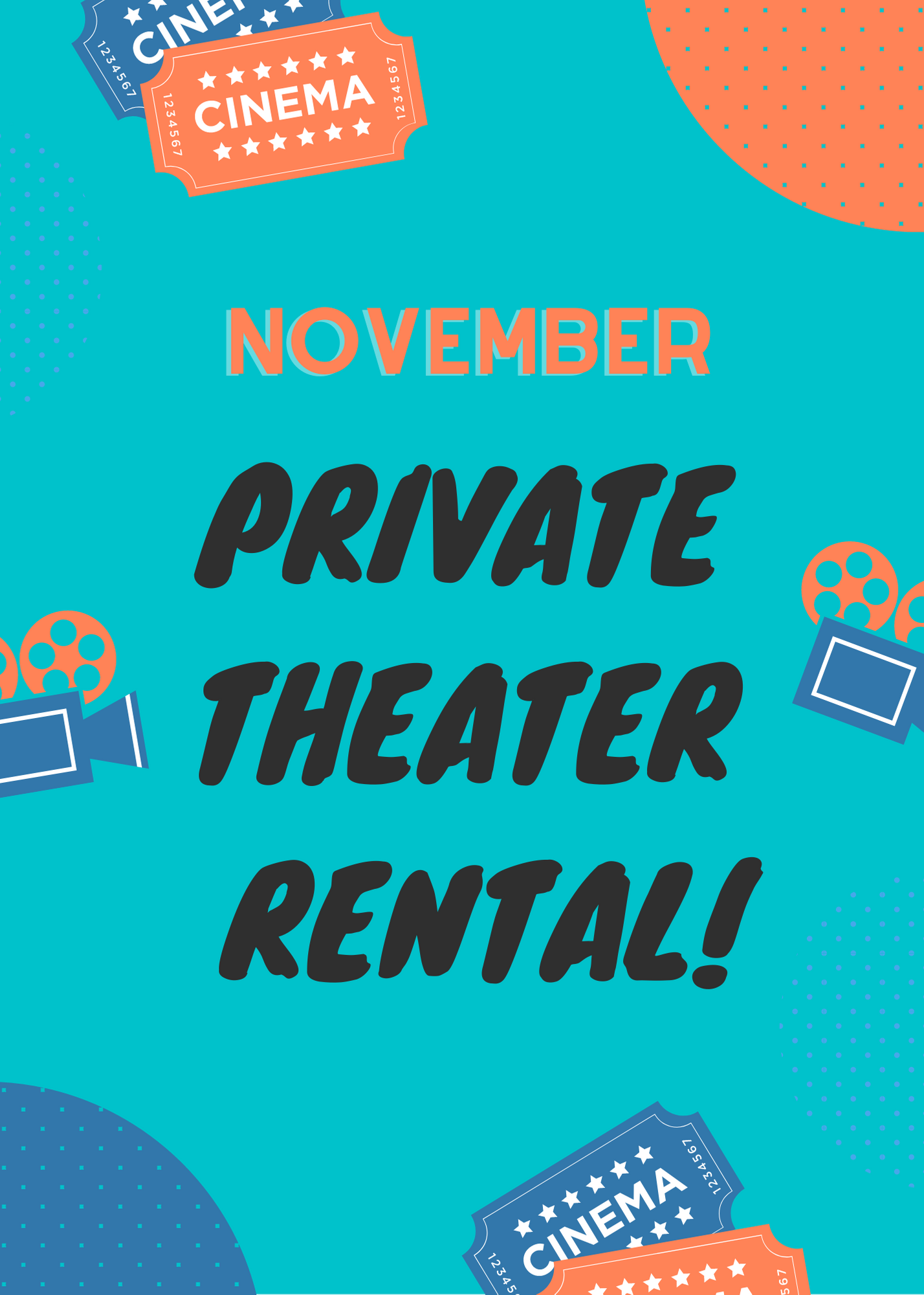 Poster for November Private Theater Rental