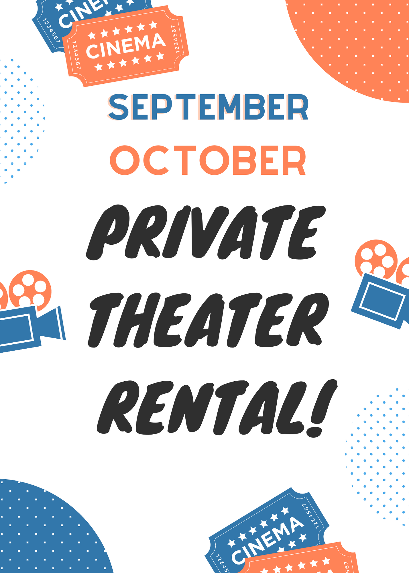 Poster for September/October Private Theater Rental