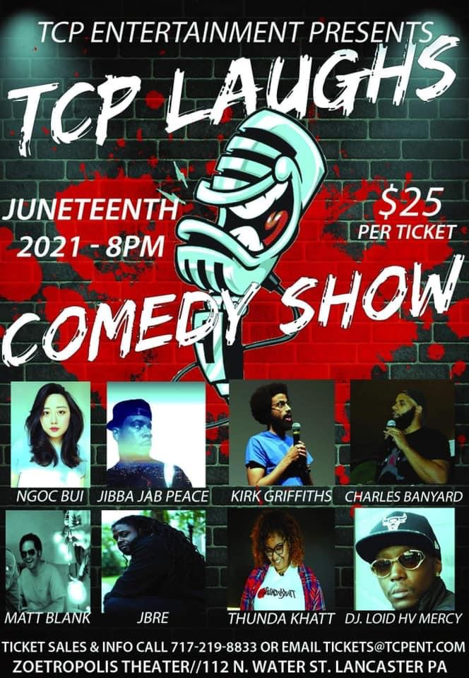 Poster for TCP Laughs Juneteenth Comedy Show