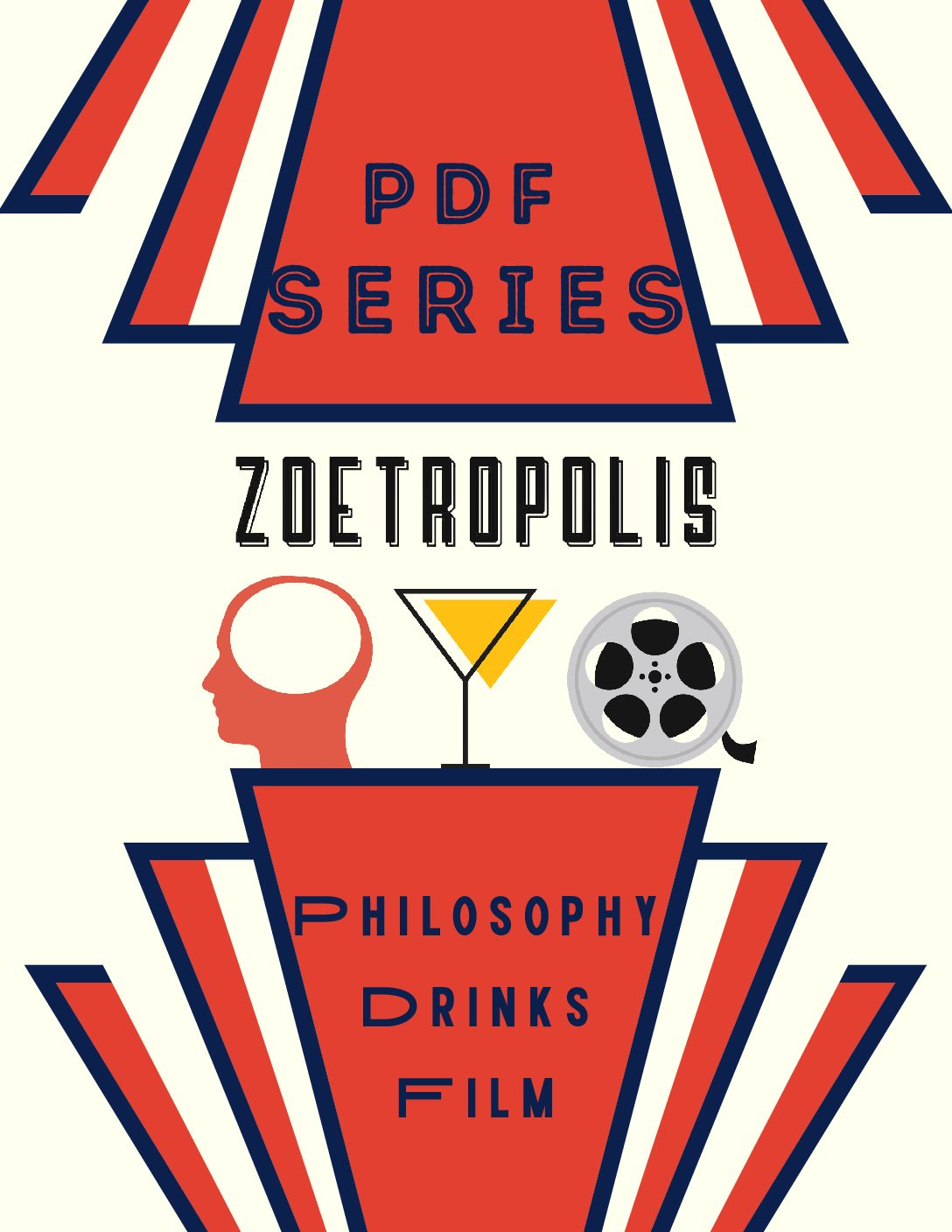 """Poster for PDF Philosophy-Drinks- """"We Love Dick"""" Series"""