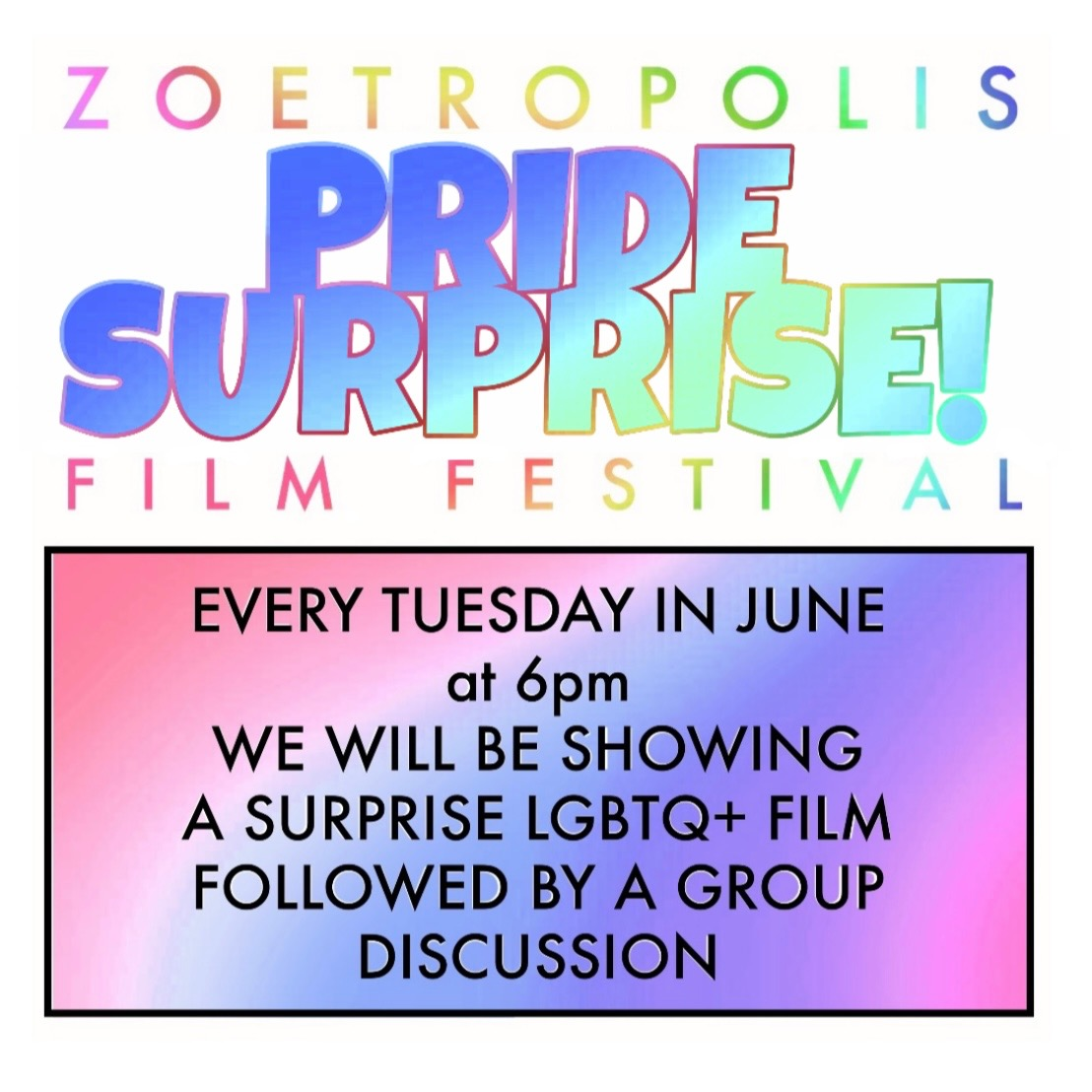 Poster for Pride Surprise Series