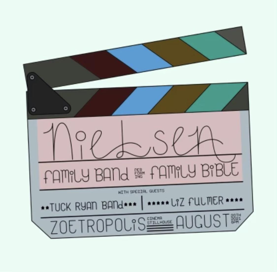 Poster for Nielsen Family Band w/ Tuck Ryan Band, & Liz Fulmer