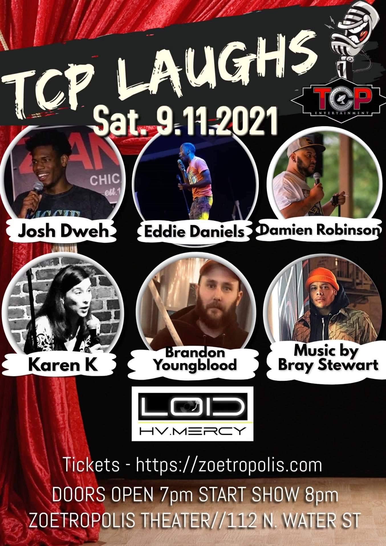 Poster for TCP Laughs Comedy & Variety Show