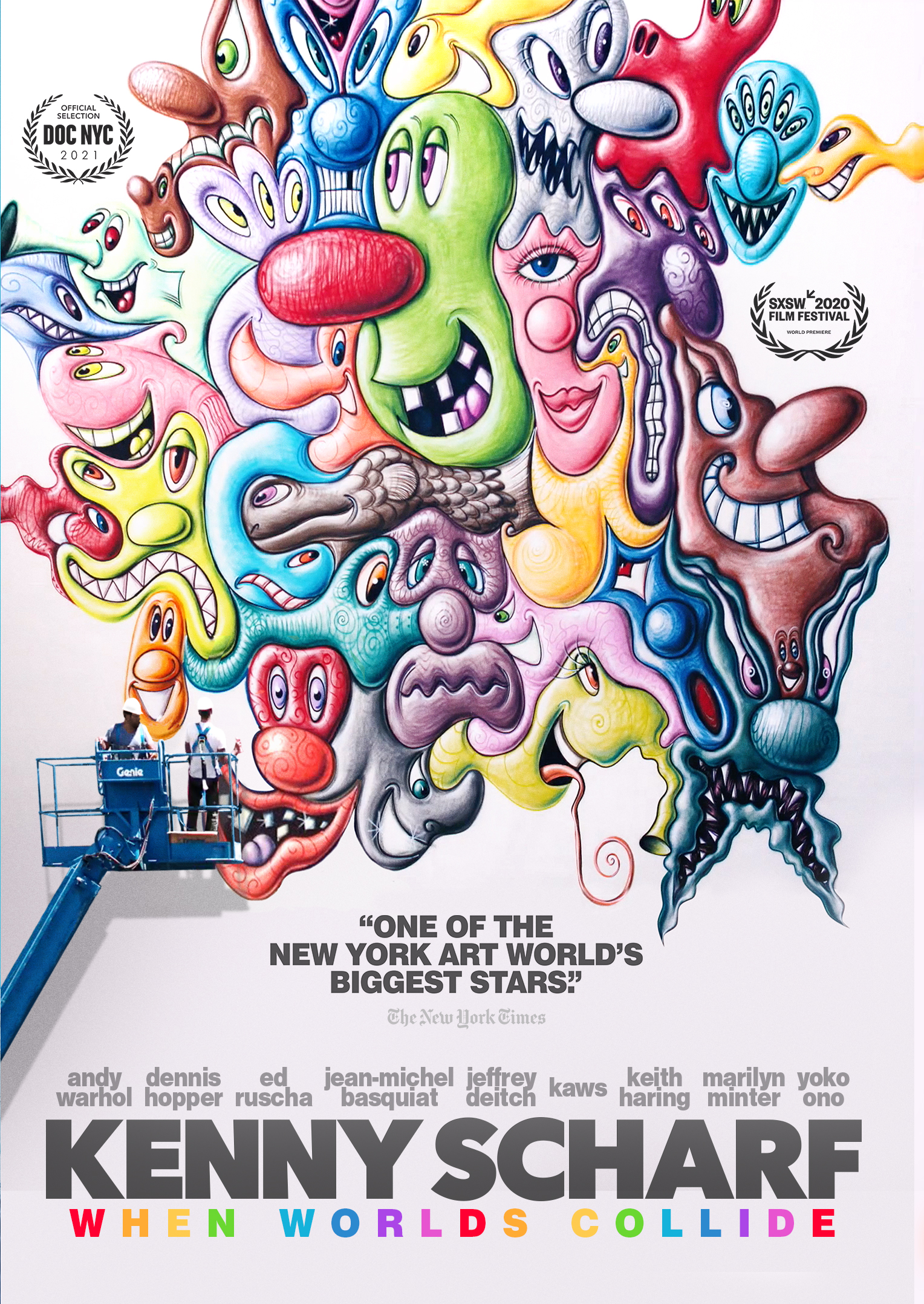 Poster for Kenny Scharf: When Worlds Collide
