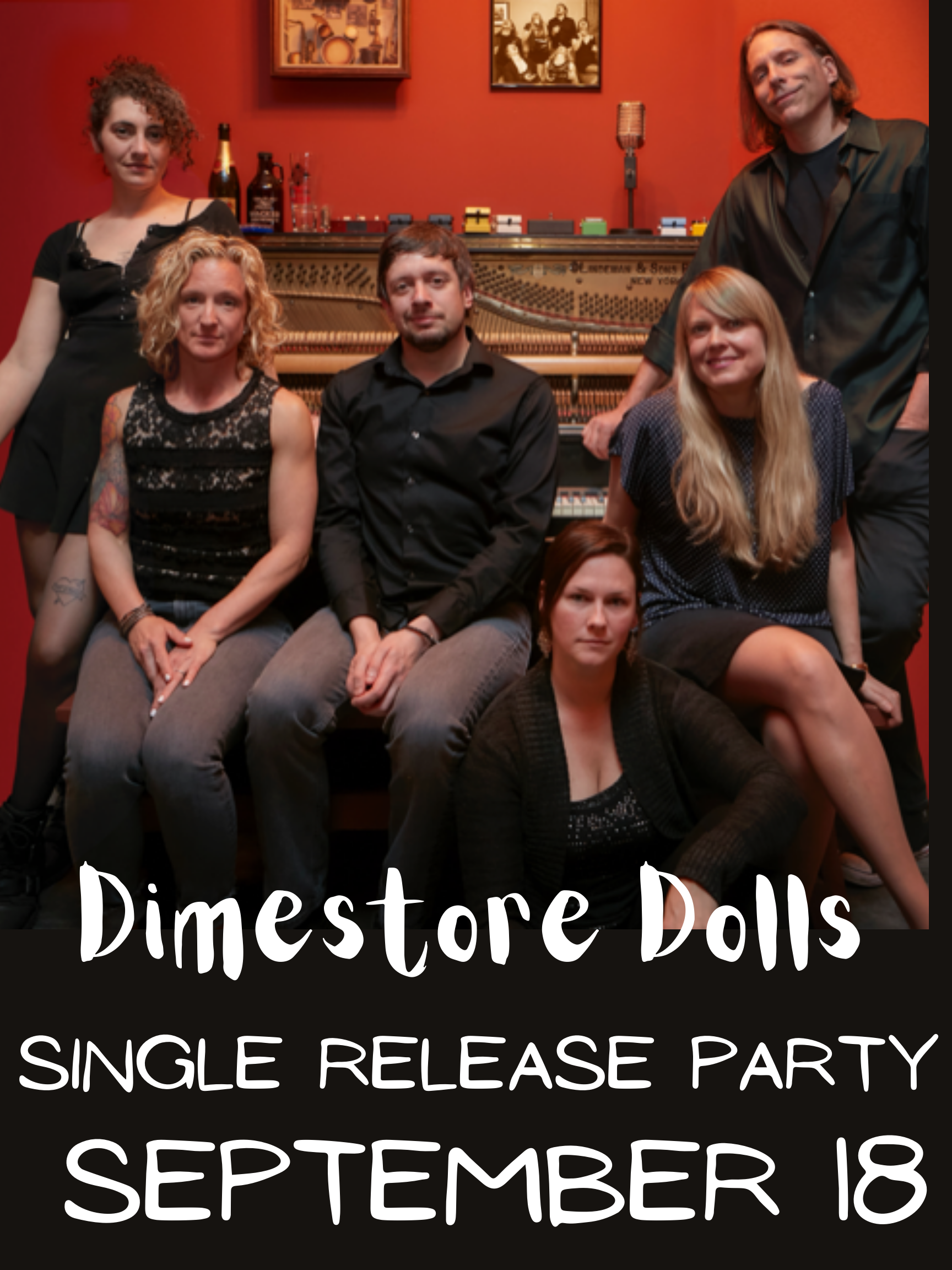 Poster for Dimestore Dolls Single Release party w/ Health Club & Jon Smith's Voyages
