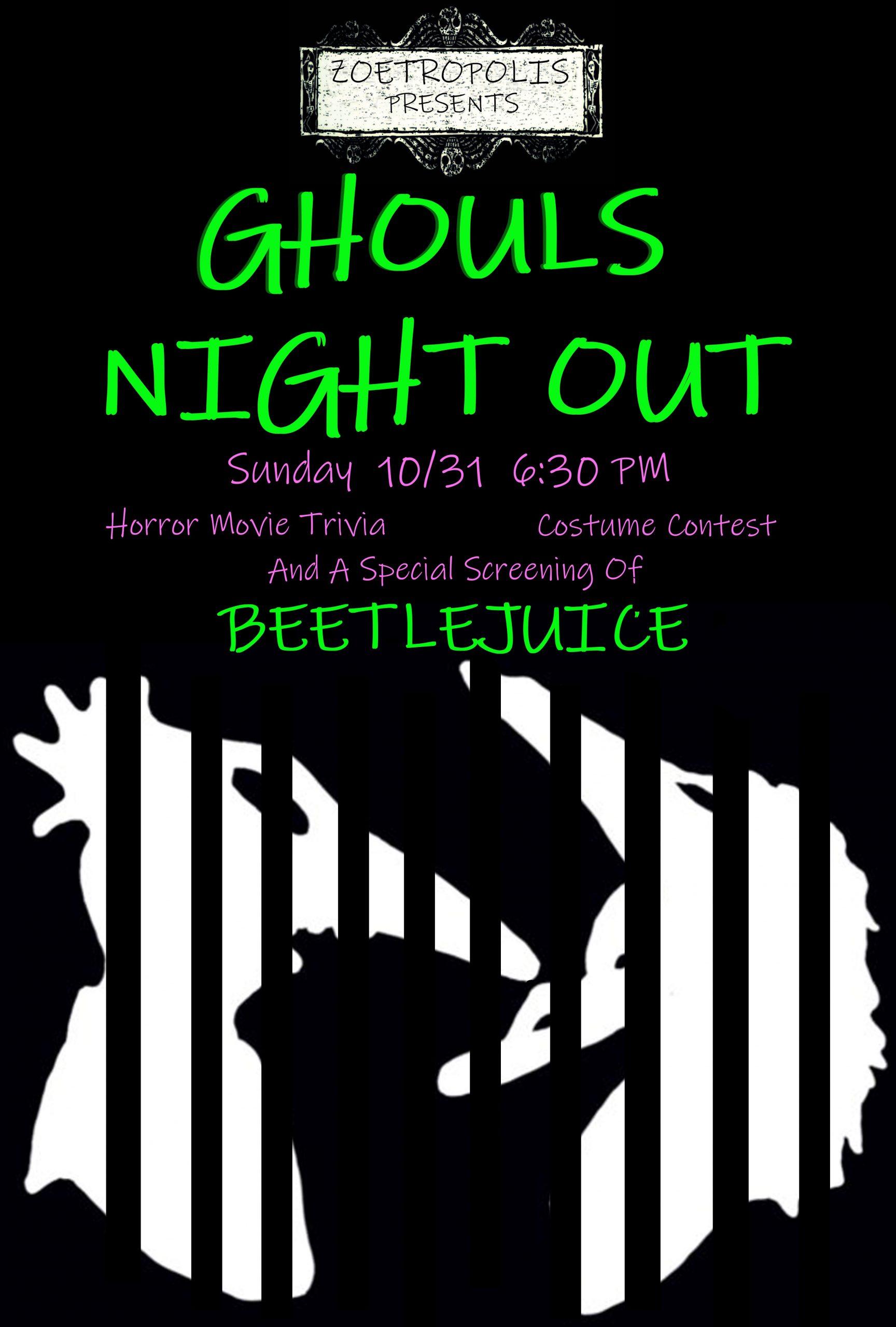 Poster for Halloween Night Ft. Beetlejuice (Halloween)