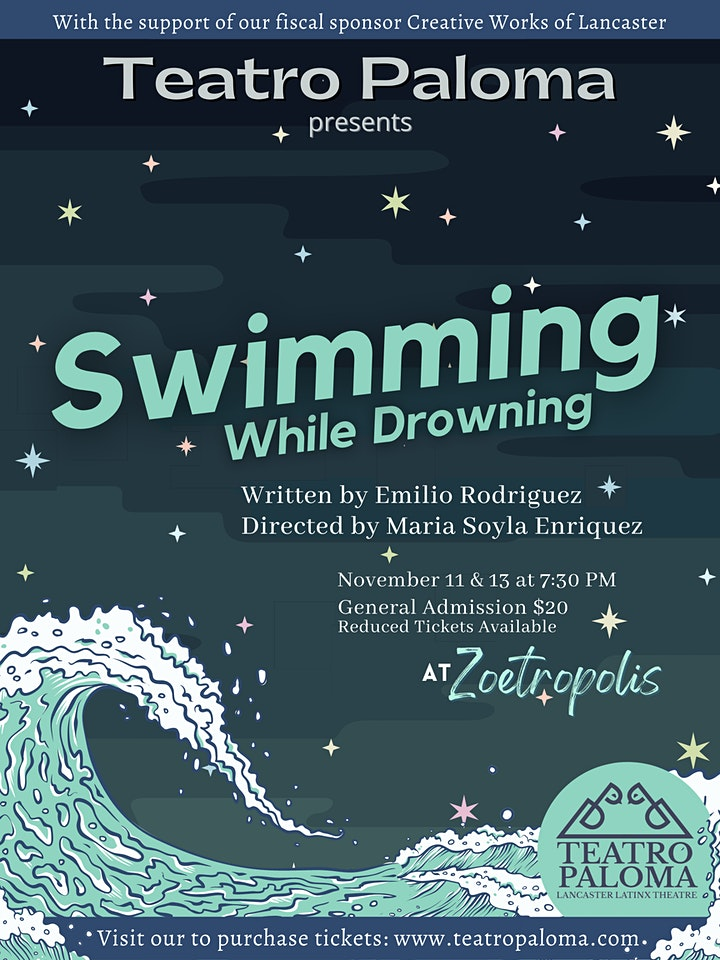 Poster for Teatro Paloma Presents: Swimming While Drowning