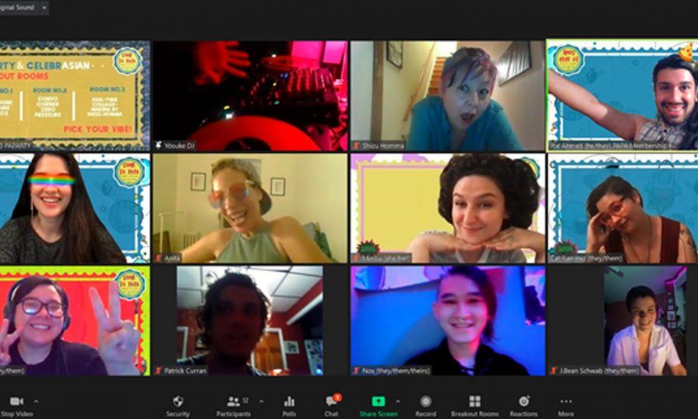 Screenshot of Philadelphia Asian Performing Artists (PAPA) Zoom call