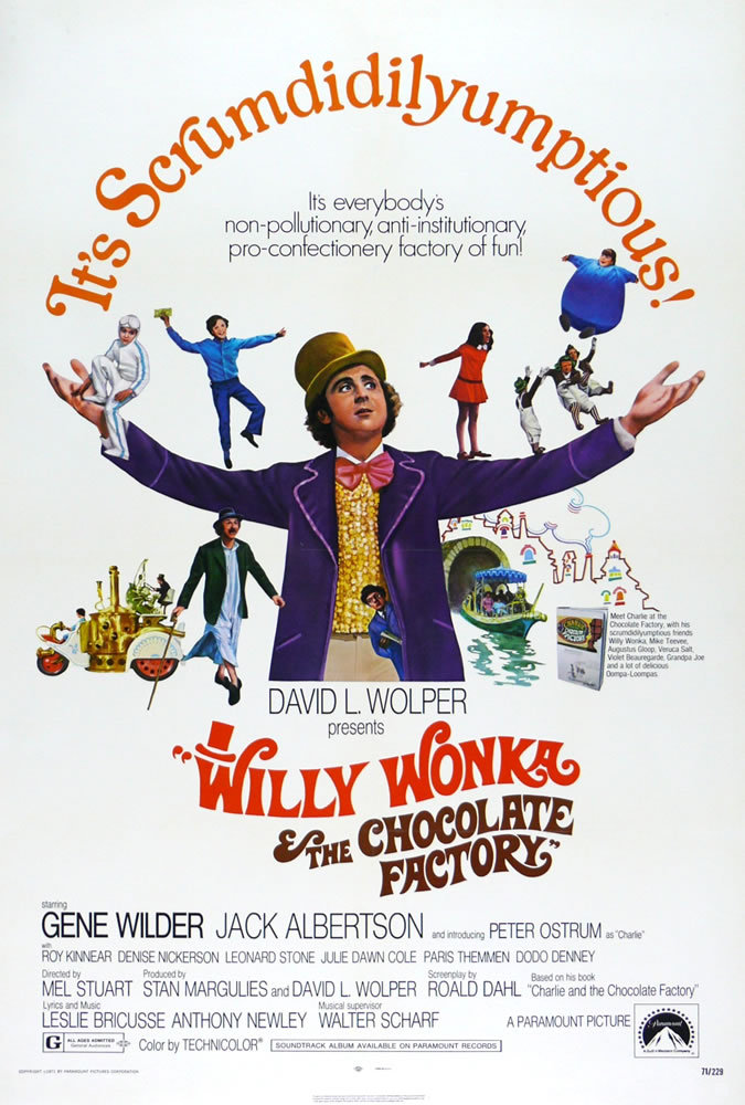 Poster for Willy Wonka & the Chocolate Factory