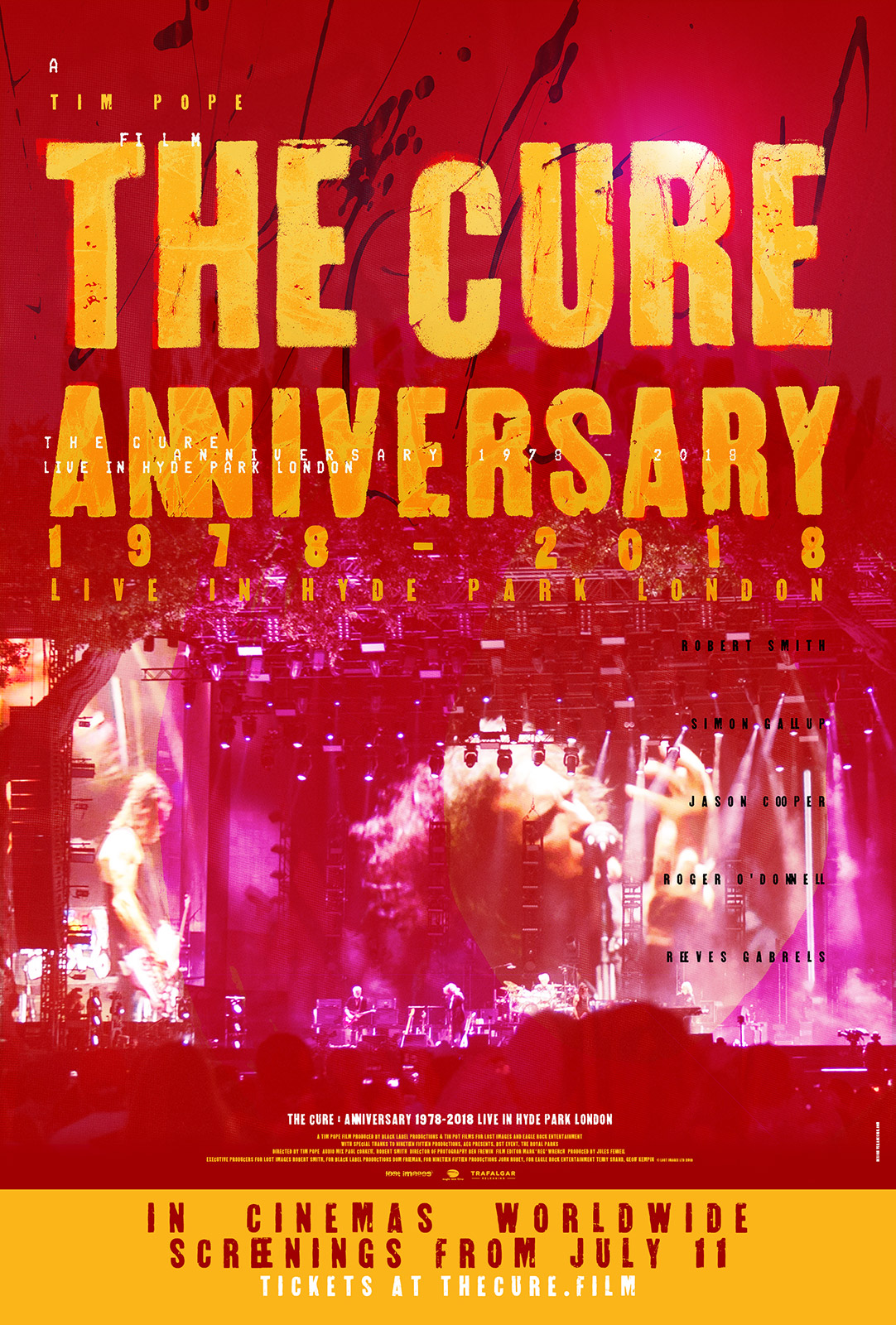 Poster for The Cure – Anniversary 1978-2018 Live in Hyde Park London