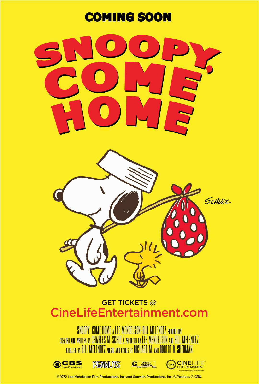 Poster for Snoopy, Come Home