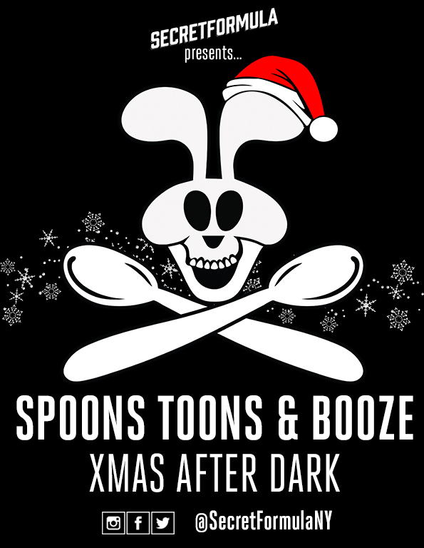 Poster for Spoons, Toons & Booze XMAS After Dark
