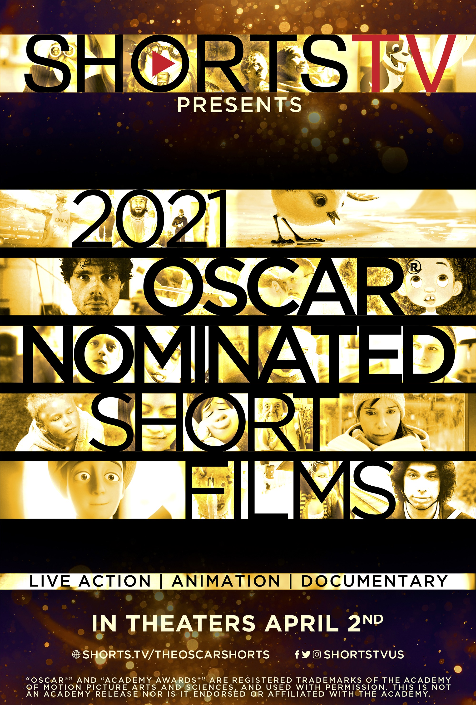 Poster for 2021 Oscar Nominated Live Action Shorts