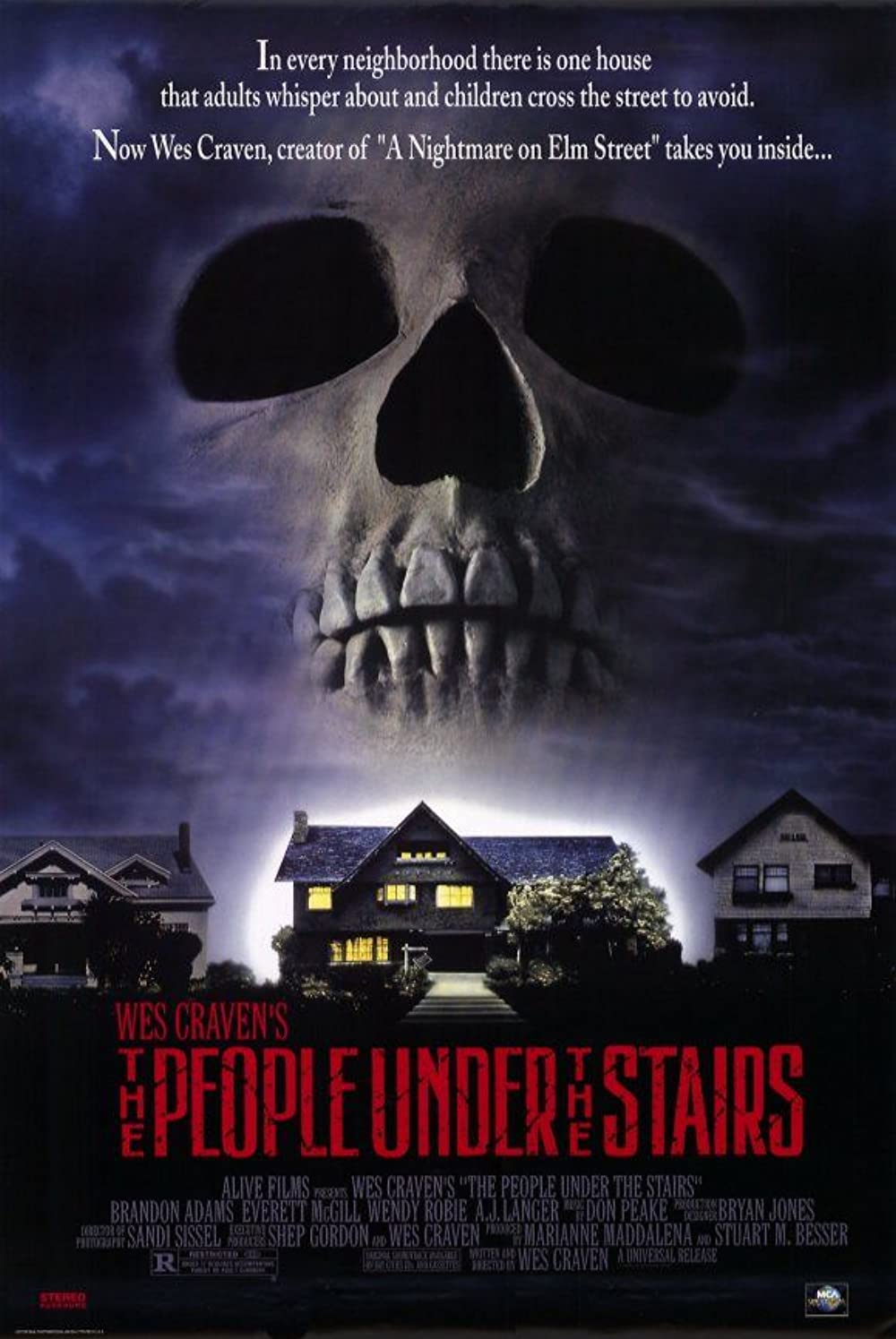 Poster for The People Under the Stairs