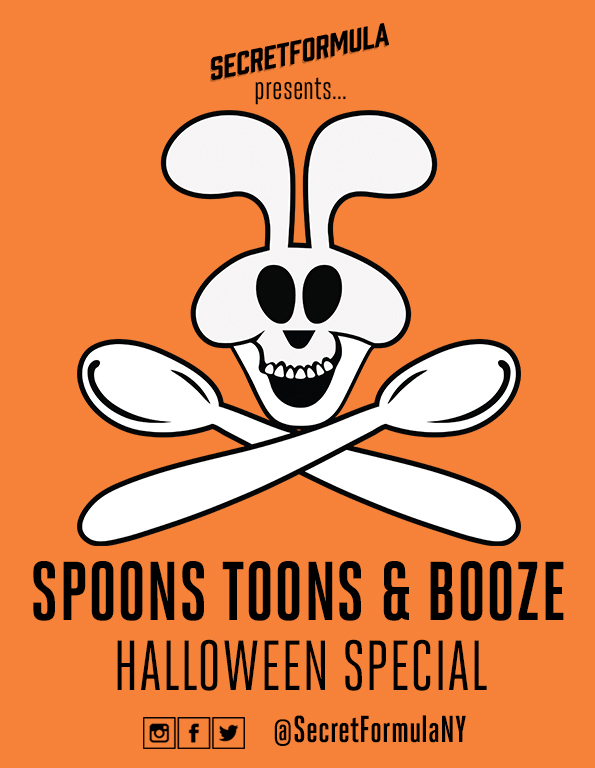 Poster for Spoons Toons & Booze Halloween Special