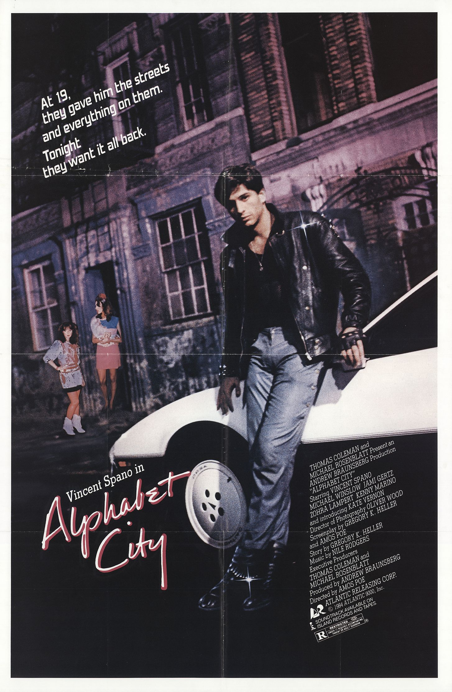 Poster for Alphabet City (Q&A with director Amos Poe)