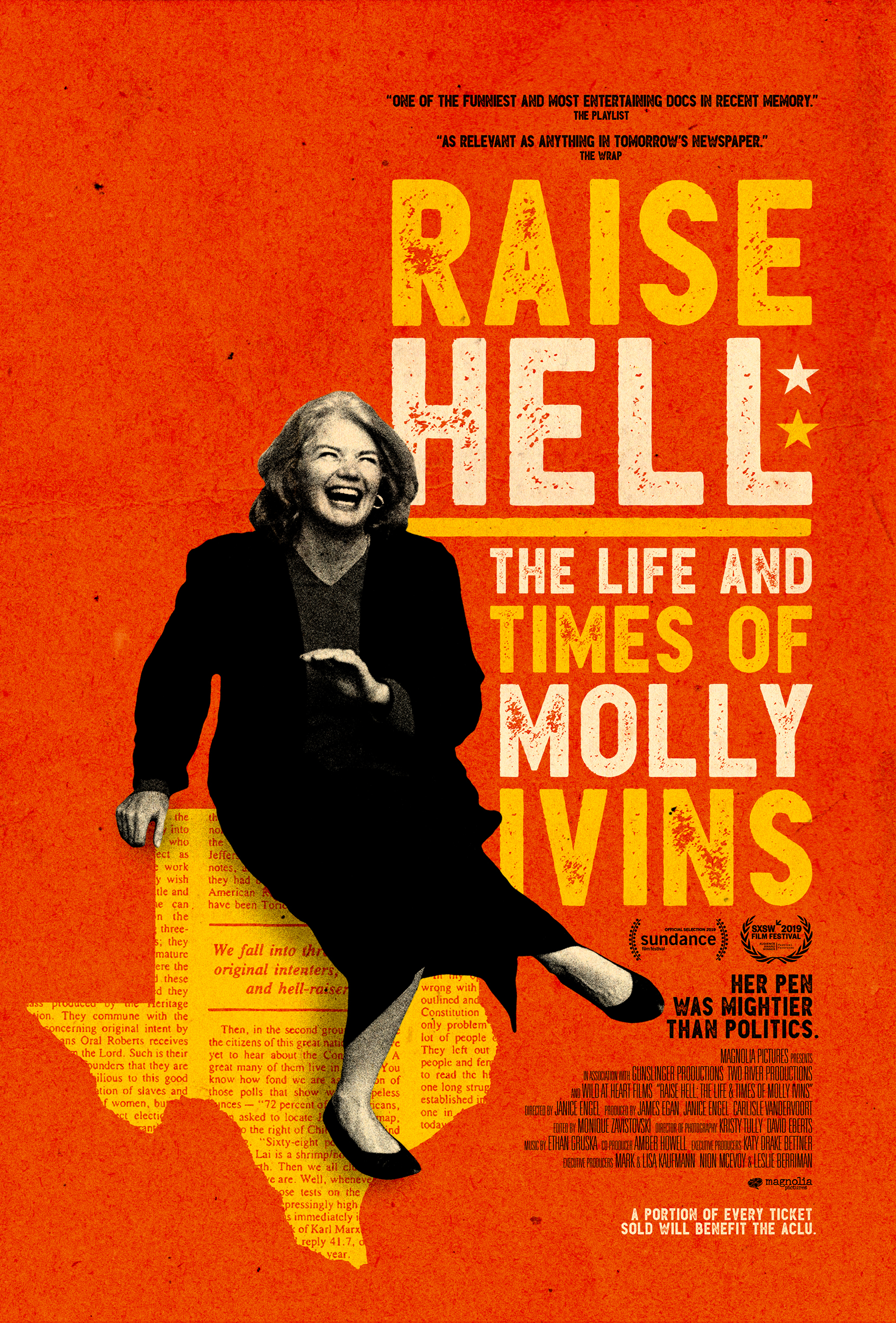 Poster for Raise Hell: The Life and Times of Molly Ivins