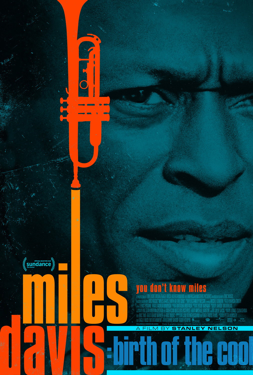 Poster for Miles Davis Birth of the Cool