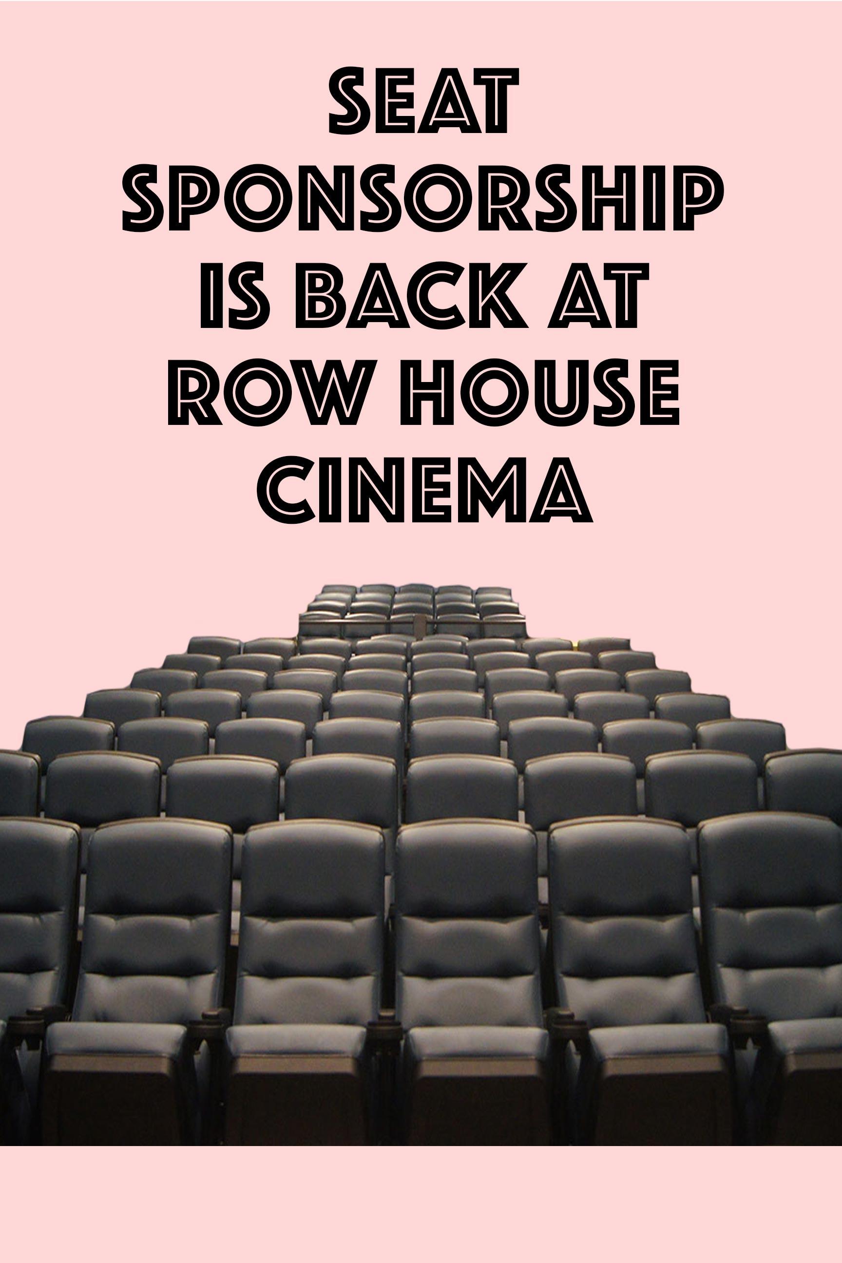 Poster for Sponsor A Seat (Sponsor Seat)