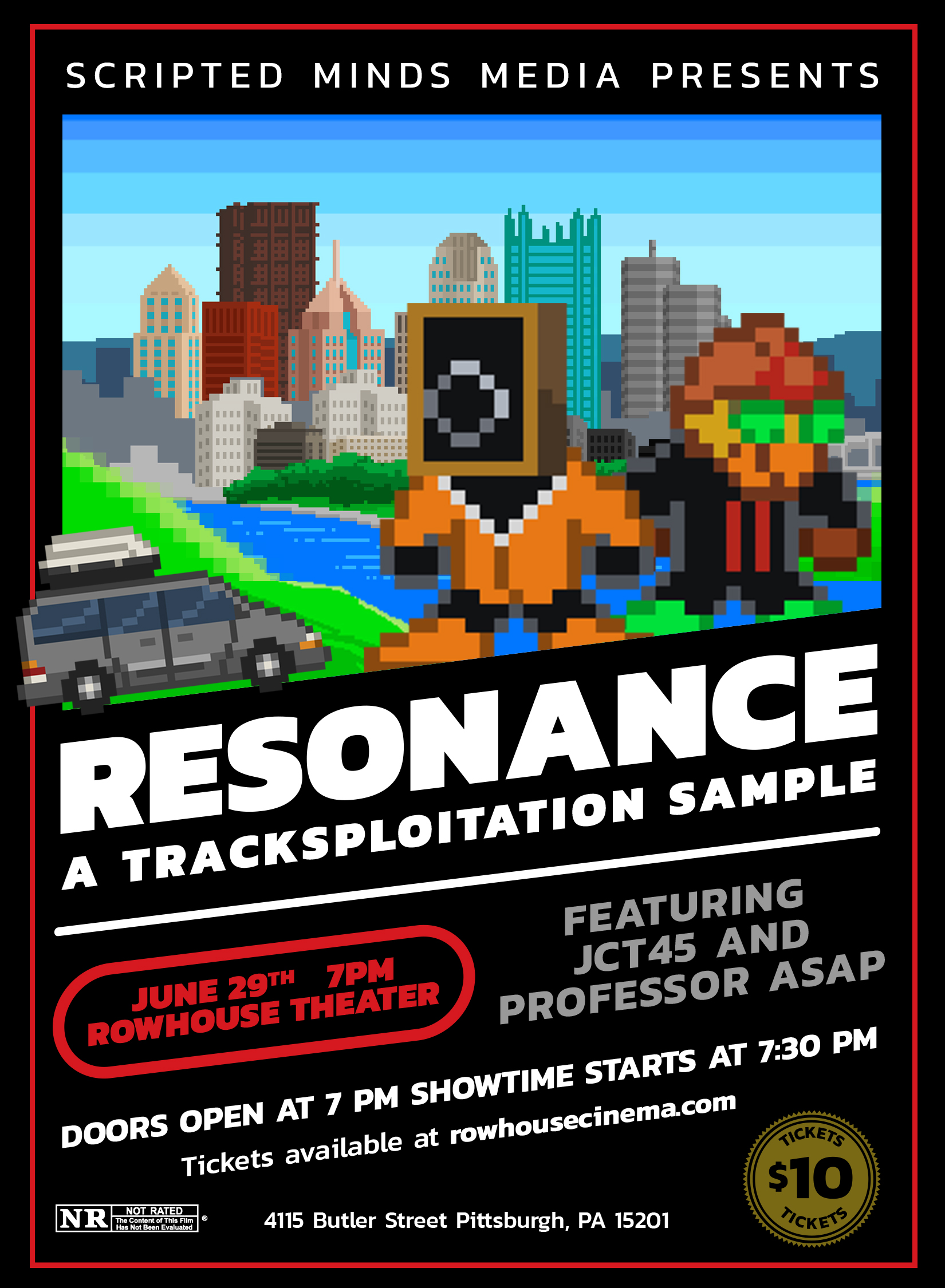 Poster for Resonance: A Tracksploitation Sample