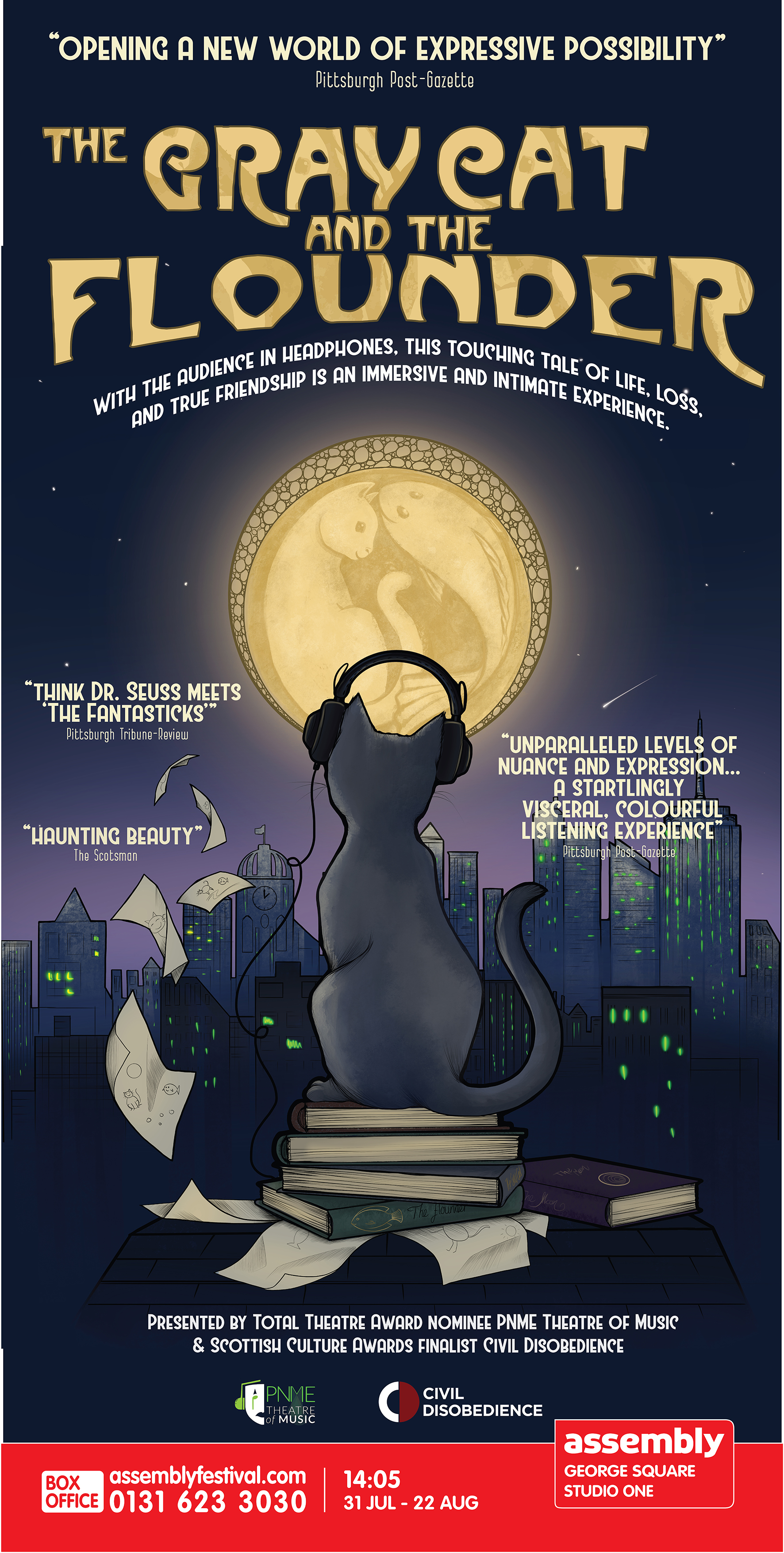 Poster for The Gray Cat and the Flounder