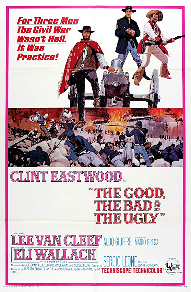 Poster for The Good, the Bad and the Ugly (Spaghetti and a Spaghetti Western)