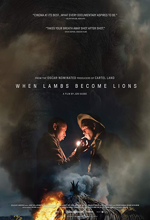 Poster for When Lambs Become Lions Pittsburgh Premiere