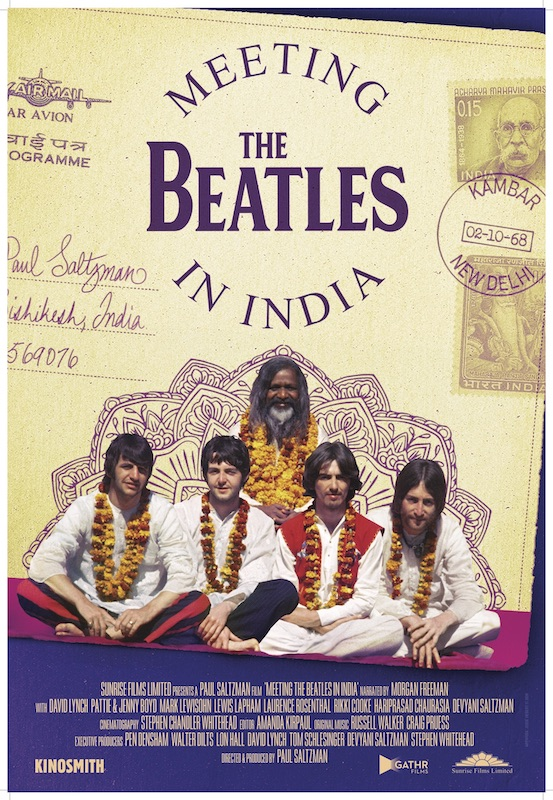 Poster for Meeting the Beatles in India