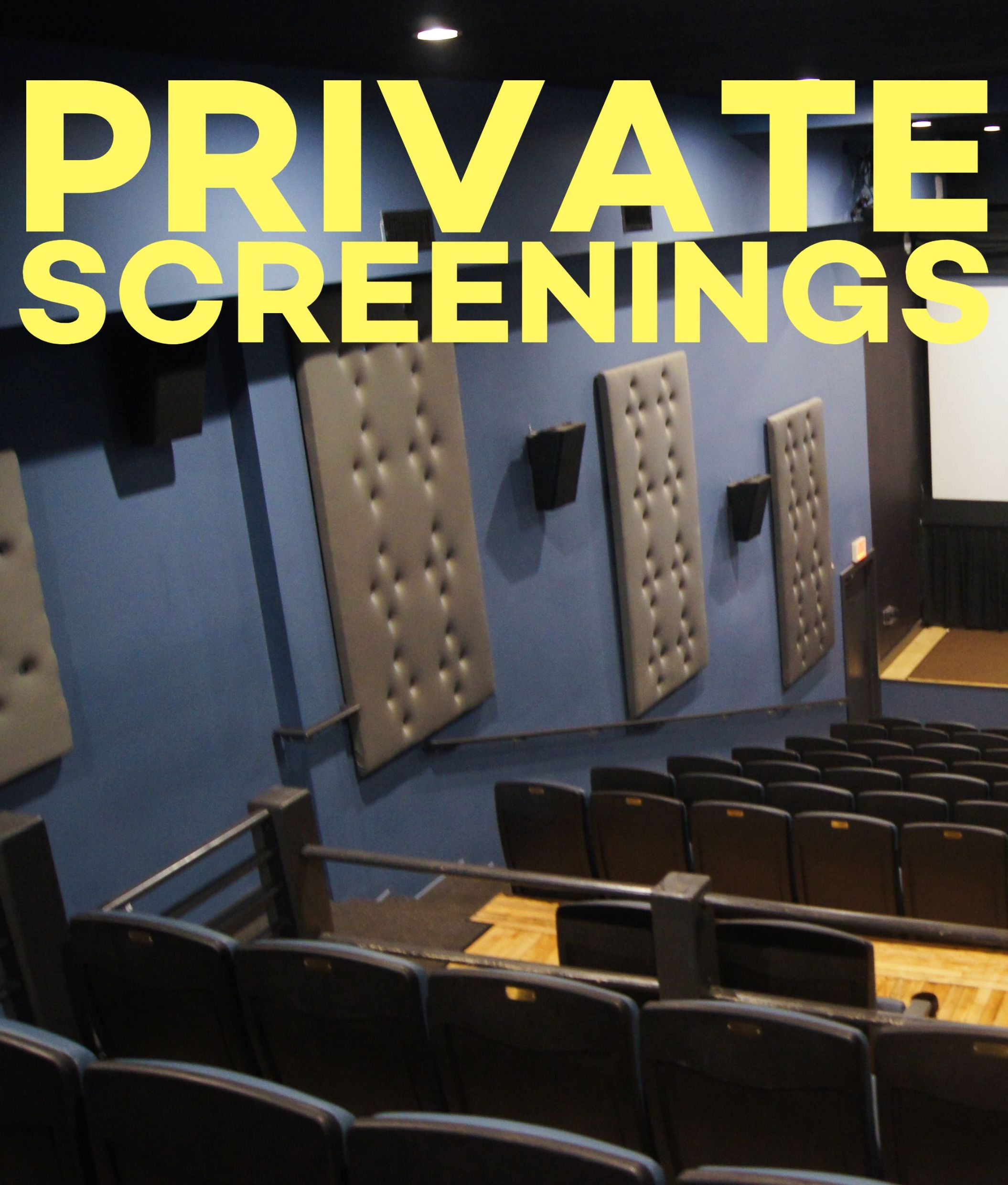 Poster for Private Movie Screenings