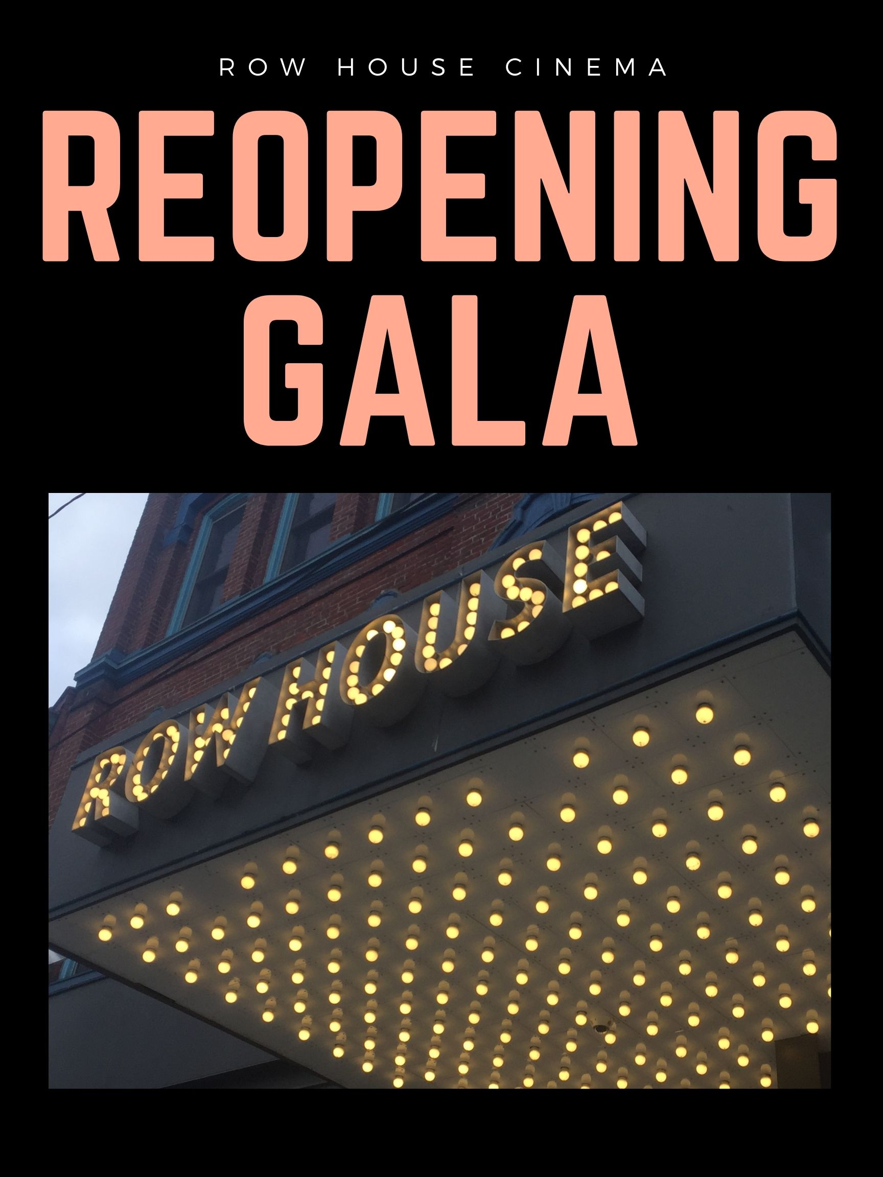 Poster for Red Carpet Reopening Gala w Pulp Fiction
