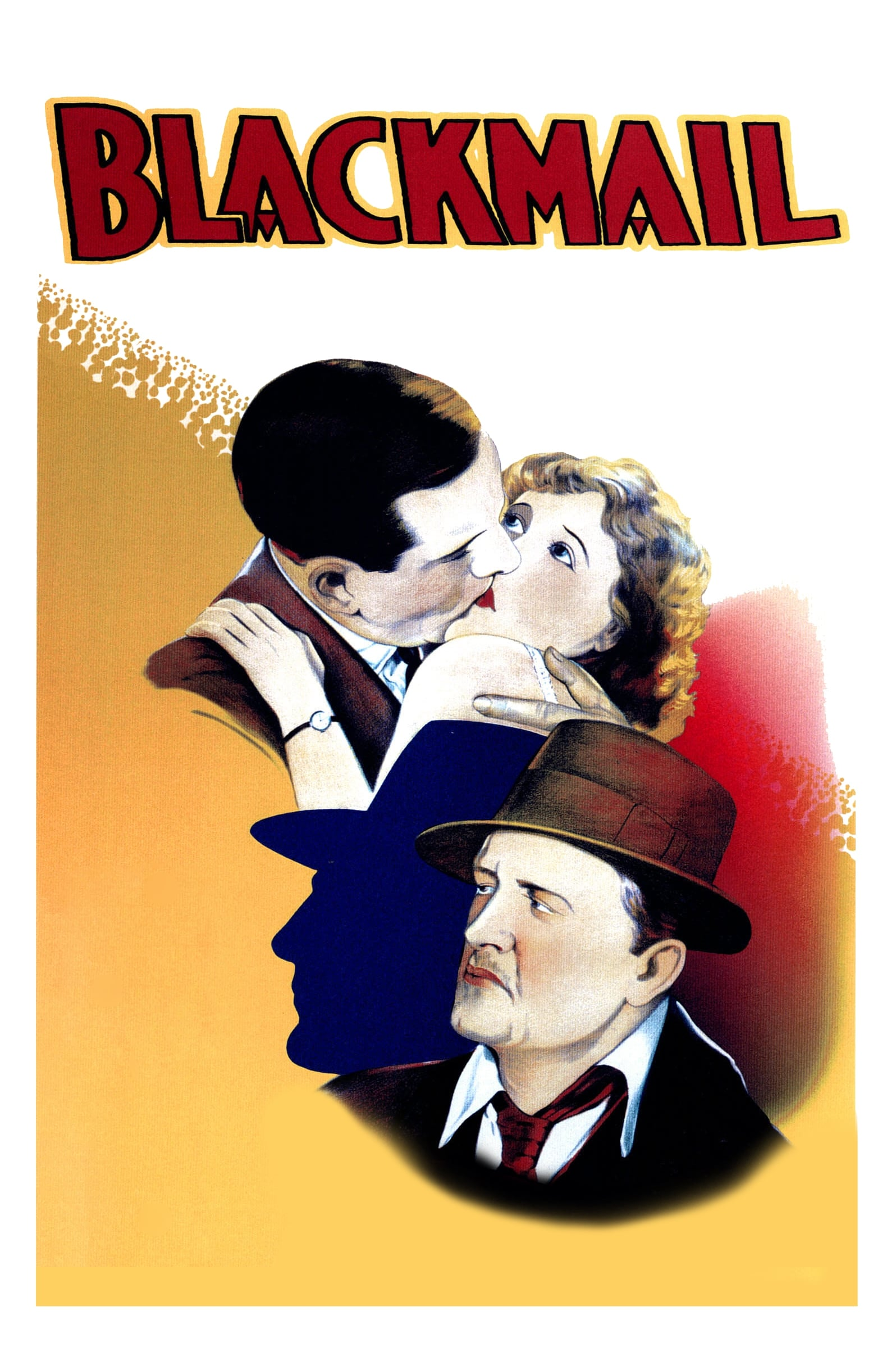 Poster for Blackmail w. Live Accompaniment