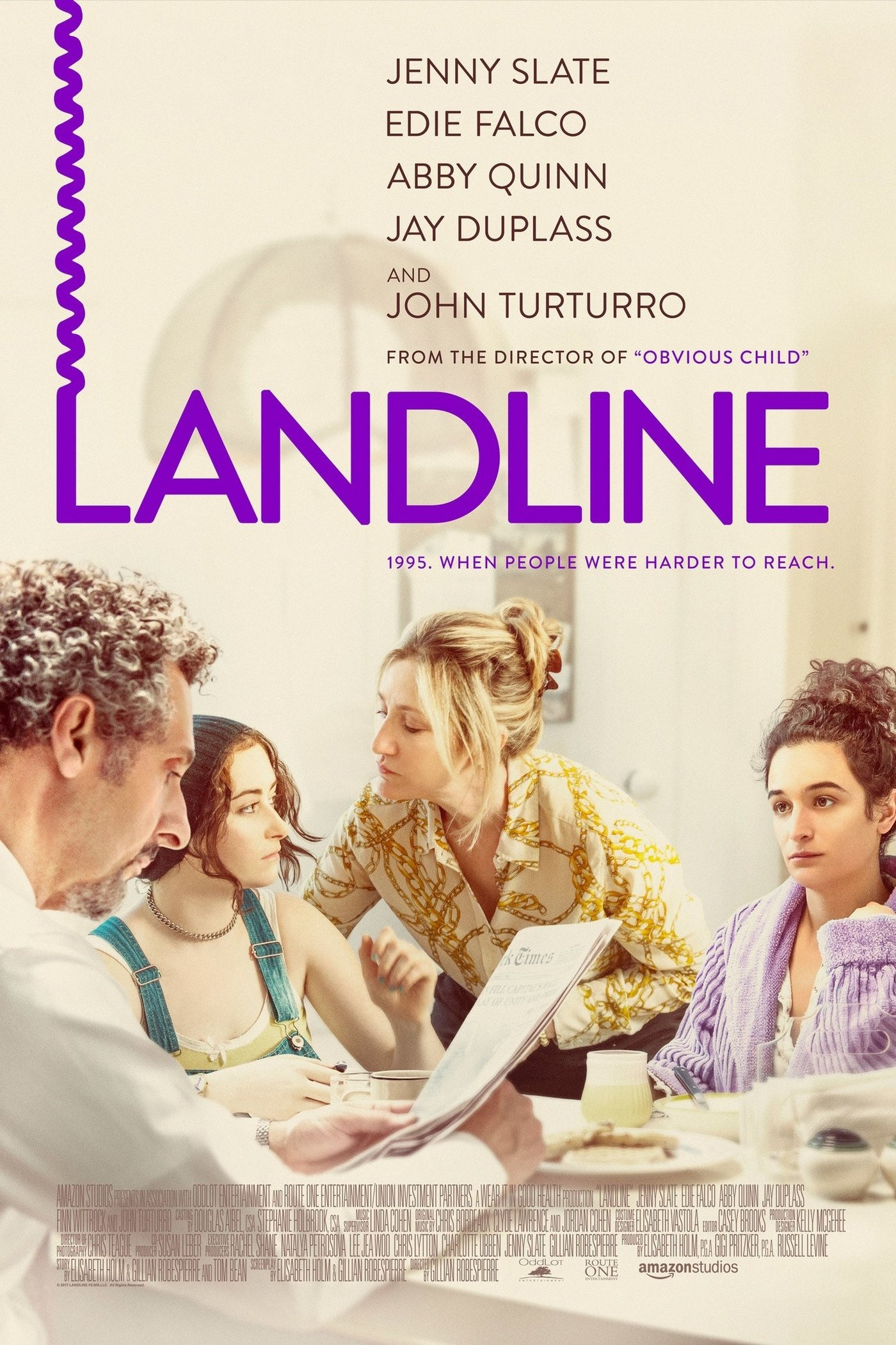 Poster for Landline (Q&A with 'writer/director' Gillian Robespierre and 'writer/producer' Elisabeth Holm.)