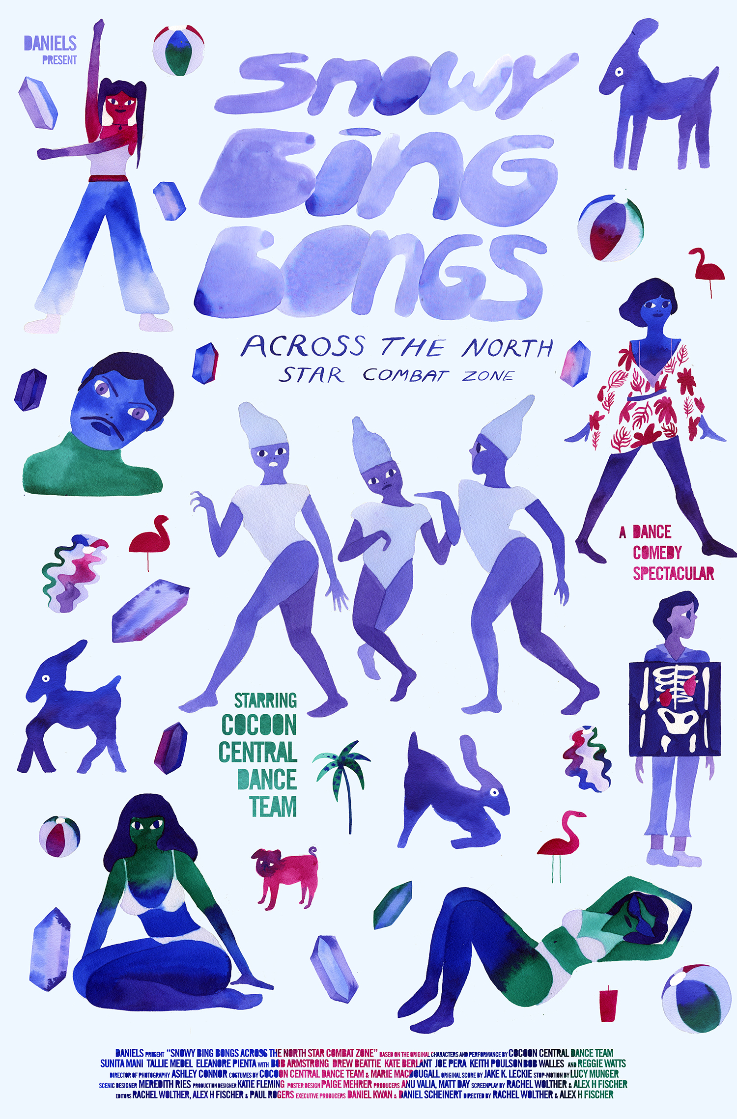 Poster for Snowy Bing Bongs Across the North Star Combat Zone